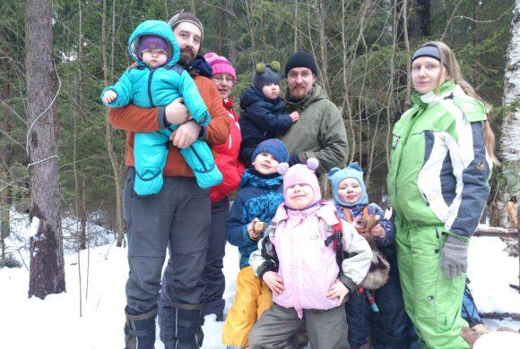 8 марта Праздничный поход всей семьёй